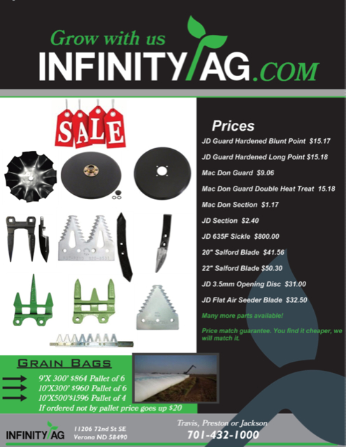 Infinity Ag, North Dakota – Herschel Parts